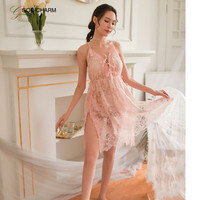 GC-86970159 Wholesale Beautiful Girl See Through Sexy Baby Doll Nighty Dress With Thong