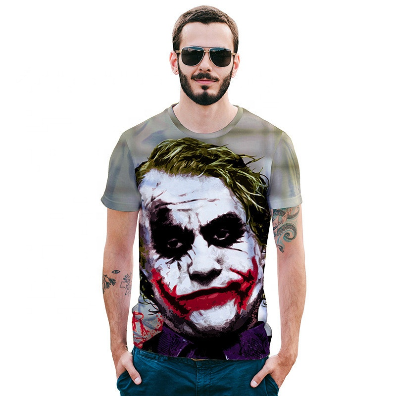 Custom full color printing made  personalize 3D vampire boys  mens  t- shirts