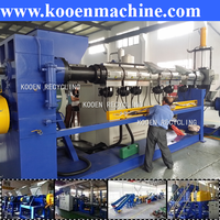 plastic pellet making machine/recycling plastic pelletizing machine/film pelletizing plastic machine