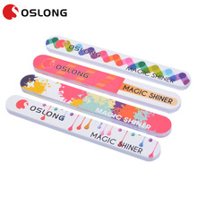 Professional half moon double side custom printed EVA polishing shiner nail file with cheap price