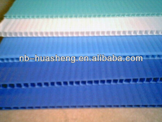 corrugated plastic pp ribbed sheet