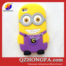 Hot Selling 3d silicon animal case for iphone 4 4S Despicable Me