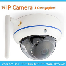 Wifi Ip Dome Camera With I / O Alarm Port Wireless Security Camera