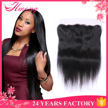 Hot Sale Wholesale Bleached Knots 100% Virgin Peruvian Lace Frontals With Baby Hair