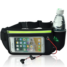2018 New Wholesale Custom Hydration Running Waist Bag with Water Bottle Holder Hot Sale