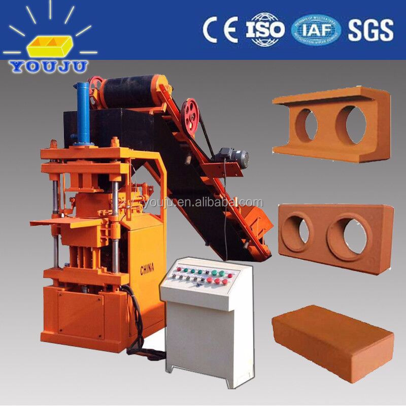 SY1-10 hydraulic compressed earth blocks machines for clay blocks sy1-10 clay soil interlocking brick machinery in guangzhou chi