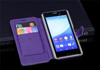 Scratch resistant PU leather For Sony M4 aqua case