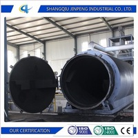 Engine Oil Waste Tyre Recycling Machine Pyrolysis Carbon Black Equipment