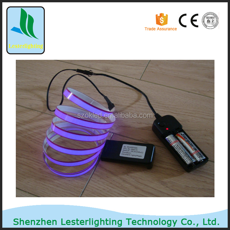 Big Sale! Blue/Green/Orange/Red/Purple/Yellow /Lime/Blue Green/Pink/ White DC12V Constant light 1500mmX10mm EL Tape/EL Strip
