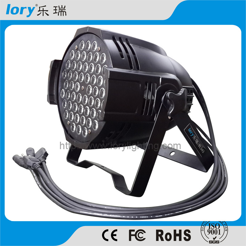 54pcs led rgbw led par 64 led lighting lamp led par 54*3w led light for warm white led par64