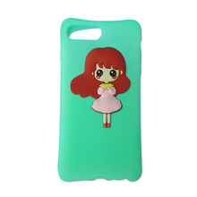2017 hot sale squishy phone Case, silicone cover for iPhone 6,cute cartoon cell phone case