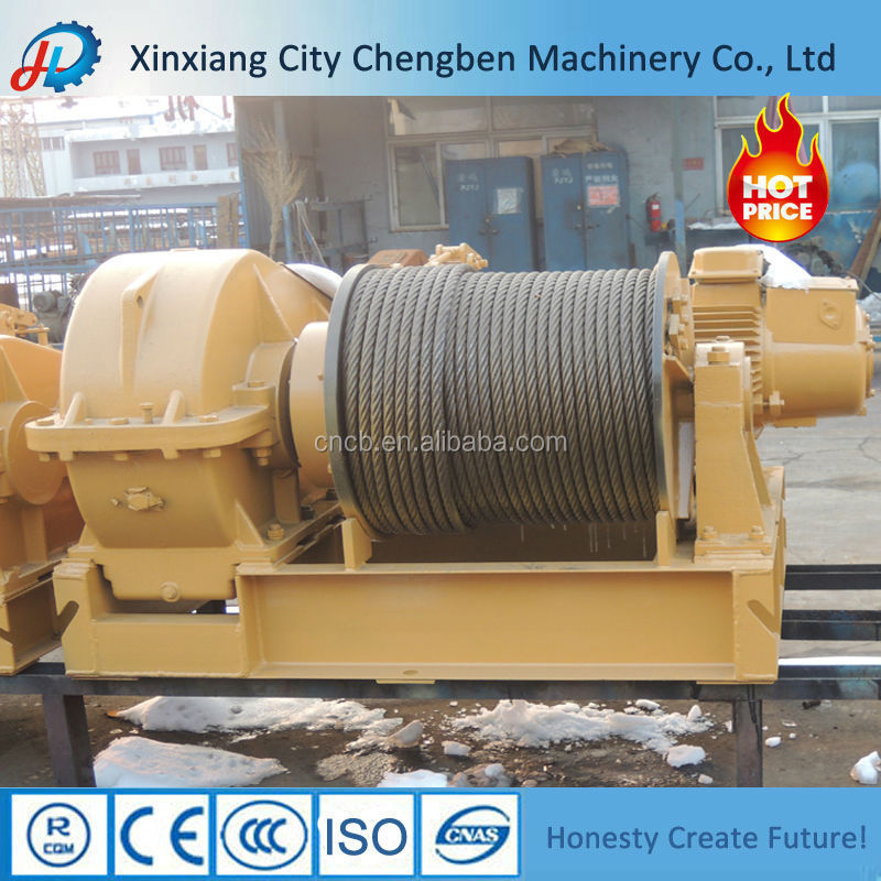 Electrical Machine Cable Pulling Failsafe Winch with hydraulic brake