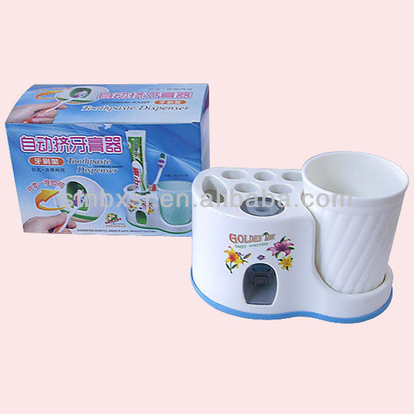 Wholesale Auto Toothpaste Dispenser Toothbrush Holder Set