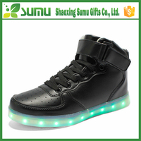 LOW MOQ OEM customize men luminous Adult Led Light Up Shoes