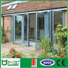 double glazing plastic light weight folding accordion door with locks AS2047
