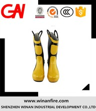 HIGH QUALITY Fire fighter insulated rubber fire resistant safety waterproof fire boots