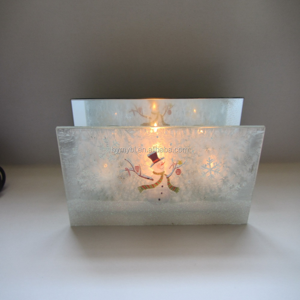 2016 hot sale 3 tier snowflake candle holder