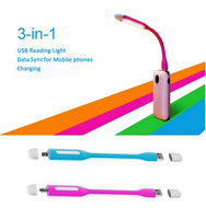 mobile accessories wholesale USB LED light for charging data sync