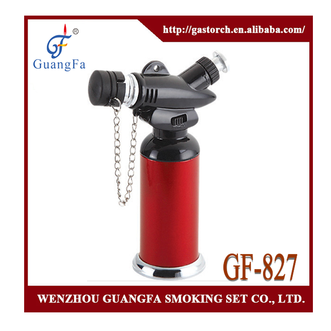 factory piezo style creme brulee torch GF-827 with child lock and function of locking fire