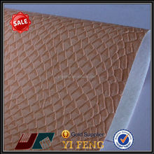 embossed faux snake skin leather