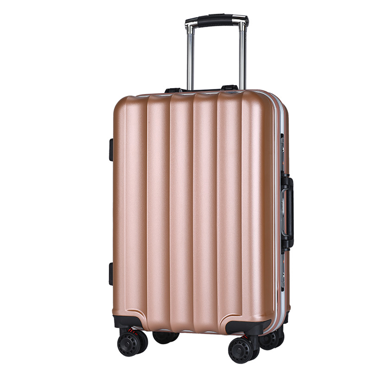New style aluminum frame luggage case ABS+PC trolley luggage case with aluminium frame