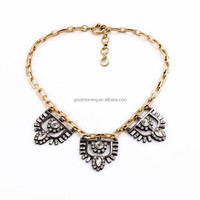 2015 Art Deco Inspired Delicate collar Clear Crystal Necklace N2452