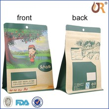 zipper bag for the black sugar packaging, standup pouch with zipper, Anti-heat barrier packaging film