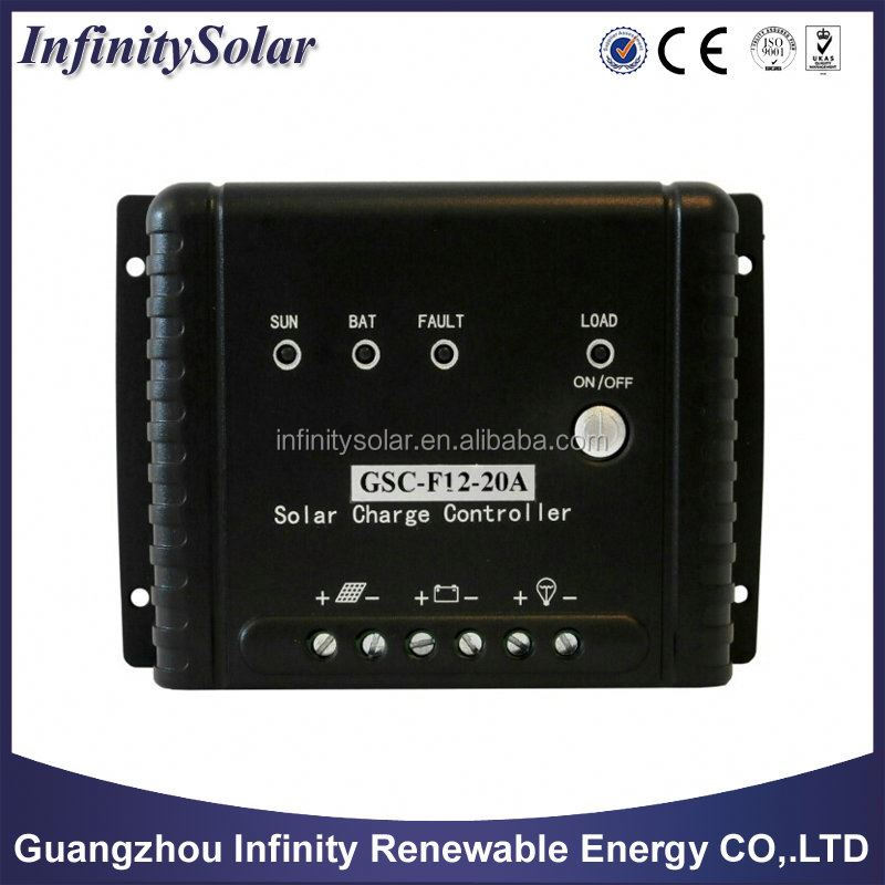 2 years warranty,FC Series LED Display 5A 10A 20A 12v 24v Solar Panel Charge Controller