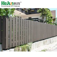 UV proof easy installation wood plastic composite garden fence panels