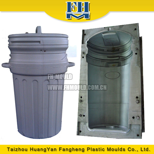 blow mould 250L trash can plastic injection molding dust bin mold
