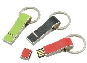 leather flash drive memory stick with custom logo printed