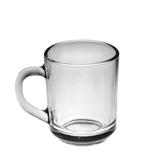 wholesale popular slender grip durable clear 220ml tea glass cup