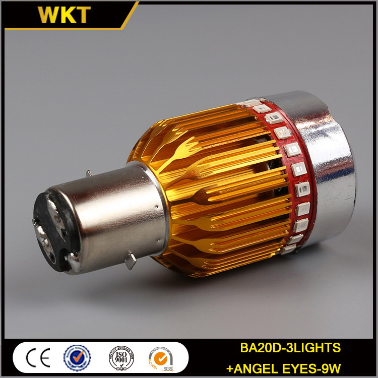 New customized BA20D motorcycle fog lights led headlight bulb