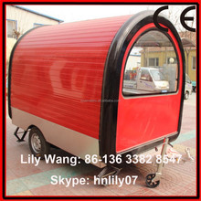 coffee trailer kiosk with CE/2015 best price mobile trailer van