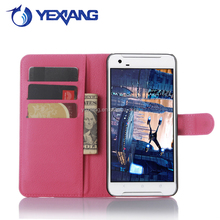 High quality magnetic wallet flip leather cover case for HTC one x9 with card stand