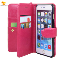 Double Layer Flip Leather Card for iPhone 6 Cell Phone Wallet Case