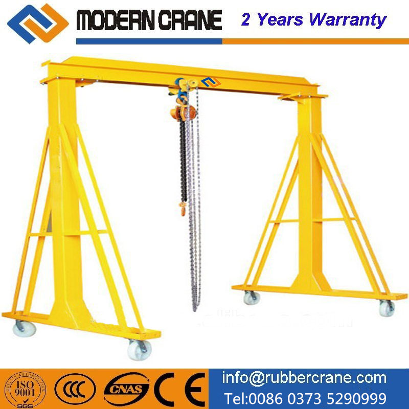 Drywall panel hoist Mobile Electric overhead gantry crane
