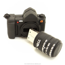 Best promotion gift PVC material camera shaped usb flash drive