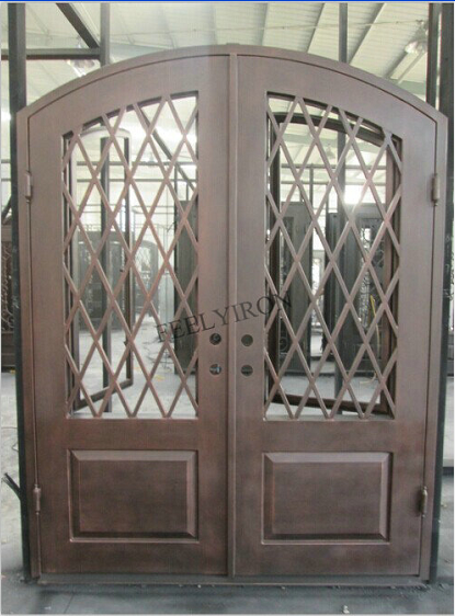 Iron main entrance doors design metal grill door buy Main entrance door grill