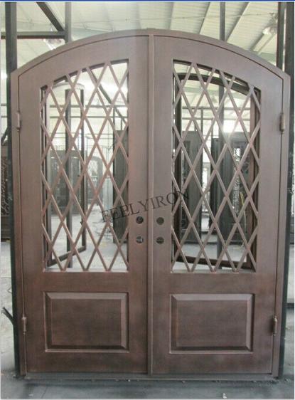 Iron main entrance doors design metal grill door buy Main entrance door grill