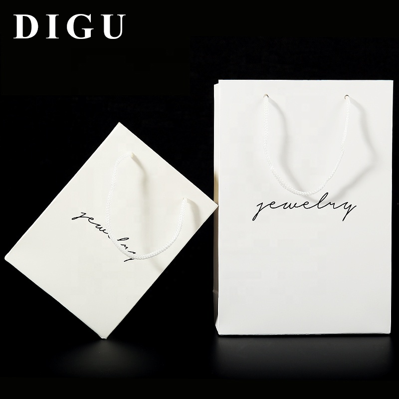 DIGU Wholesales Cheap Paper Gifts Bags In Stock Jewelry Paper Packaging Bags
