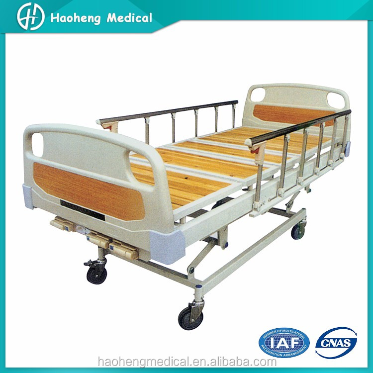 Medical Clinic Manual Three Crank Hospital Bed Table with Drawer