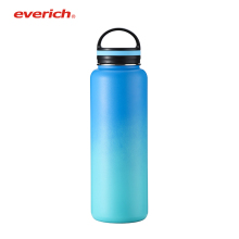 Everich Hot Sale Custom Logo Double Wall Insulated Stainless Steel 1Liter Hot Water Bottle