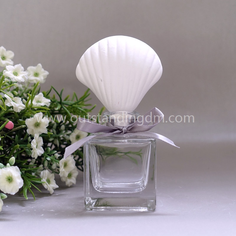 Ceramic Seashell Fragrance Diffuser In Air Fresheners With Glass Bottle