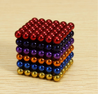 216Pcs 5mm Colorful DIY Magnet Beads Magnetic Balls Puzzle