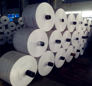PP plastic woven sack roll for chemical feed rice corn packing