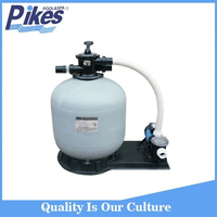 swimming pool water well sand filter tank with pump