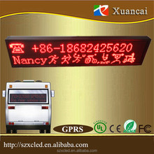 Hot! Bus One-to-many control P10-32x160Red 9-32V free server GPRS(2G-Phone card) led BUS message sign