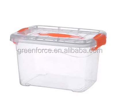 High Quality Transparent Stackable Plastic Storage Tote Box