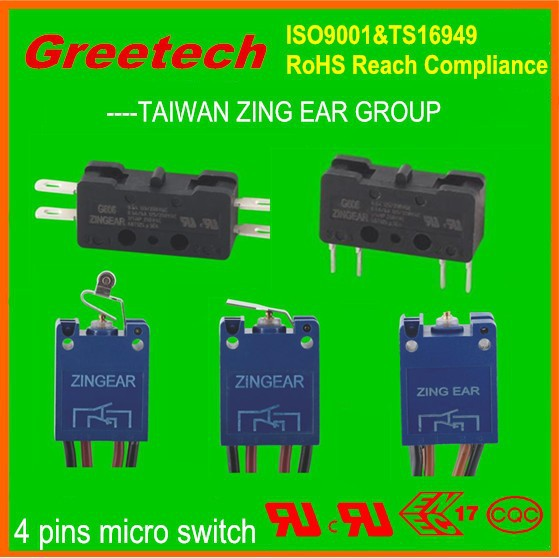 2015 zing ear ul listed micro switch valve t85 5e4, ul, cul, enec approved high temperature limit switch